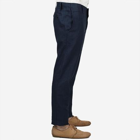 18 Waits The Slims Trouser - Navy French Linen