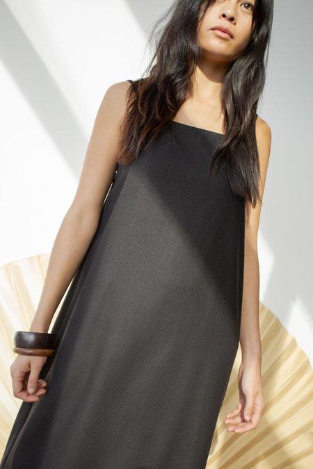 OR Drawstring Slip Dress - Black