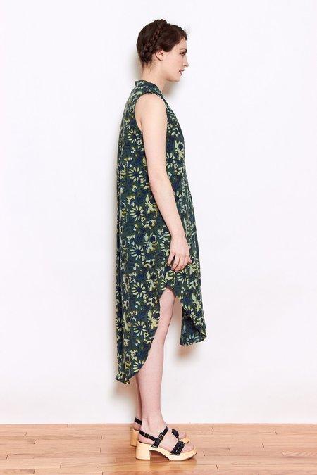Launderette Olivia Dress - Green Flower