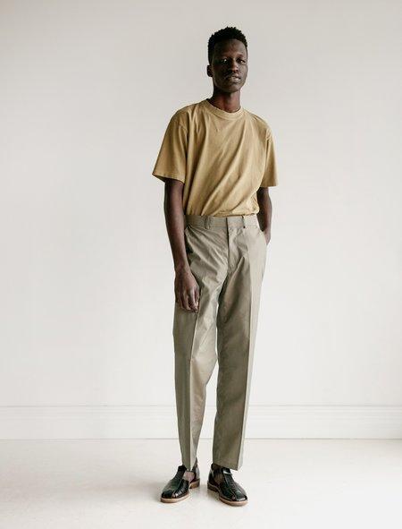 Auralee Finx Polyester Slacks - Olive Chambray