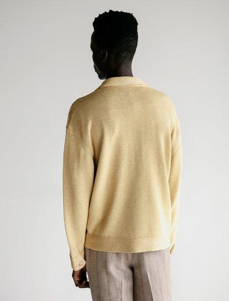 Auralee Flat Yarn Knit Blouson - Yellow
