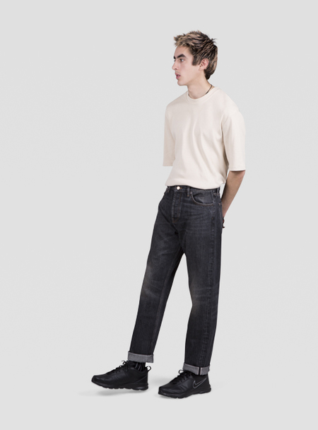 I AND ME Waterless Washed Selvedge Slim Leg Jeans - Worn Black