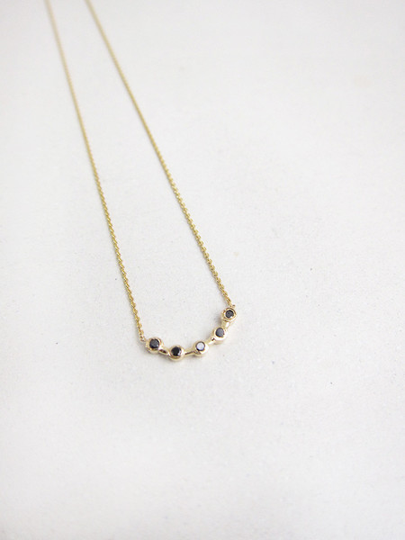 Quarry Cas Necklace, Black Diamond
