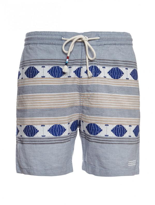 Men's Sol Angeles Windward Ikat Chambray Shorts