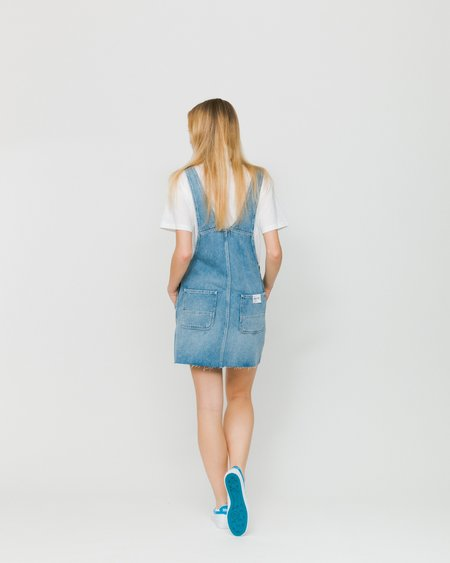 Carhartt WIP Peto W' Bib Skirt - Blue Light Stone Washed