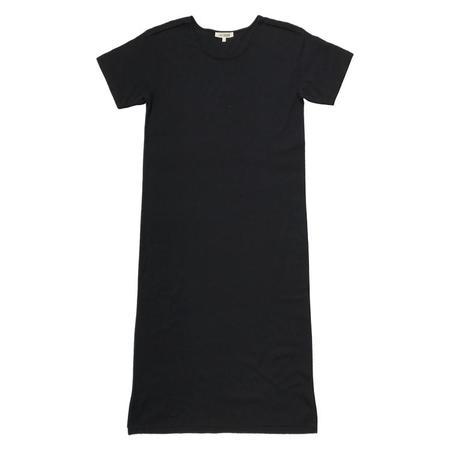 ali golden DROP SLEEVE T-SHIRT DRESS - black