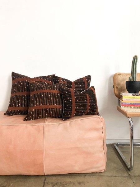 San Junipero Textile Studio Hauchuma Pillow Cover - black/cream