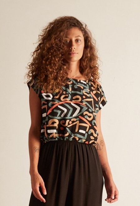 THE ODELLS Citta Crop Top - abstract
