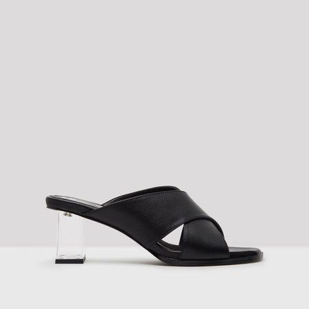 Miista Paloma Leather Mules - Black