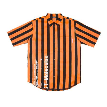 Marcelo Burlon Warning Shirt - Orange Stripe