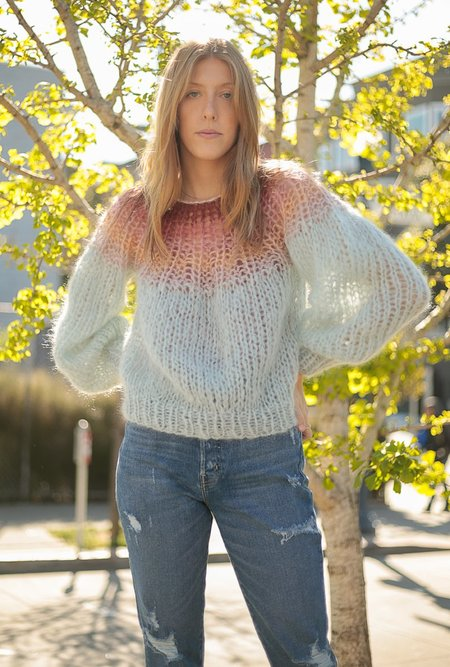 Maiami Pleated Gradient Sweater