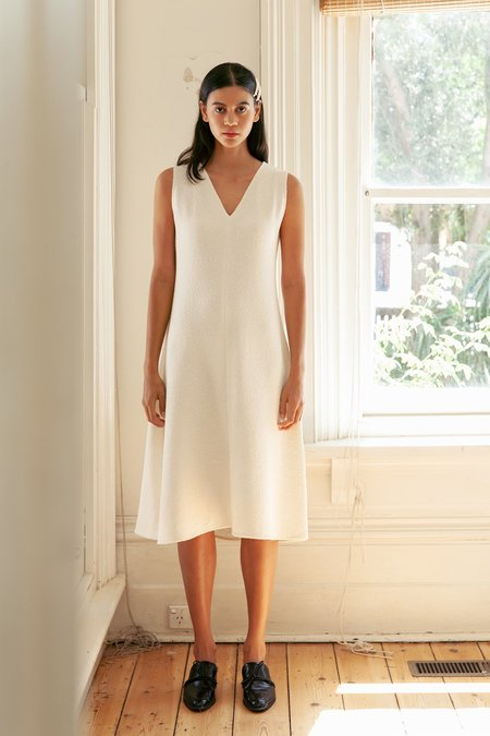 BEFORE MARCH Seneca tank dress - white