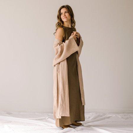 Ozma Linen Robe Jacket - Dusk