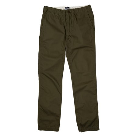 August Fifteenth Dry Chino Herringbone Pant - Olive