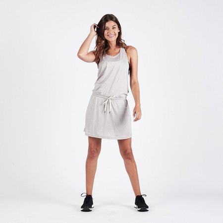 Vuori Sol Tank Dress - Light Heather Grey