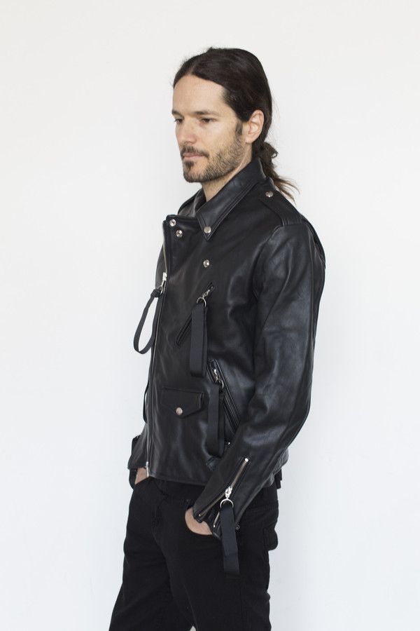 Matthew Miller Leather Tyler Biker Jacket