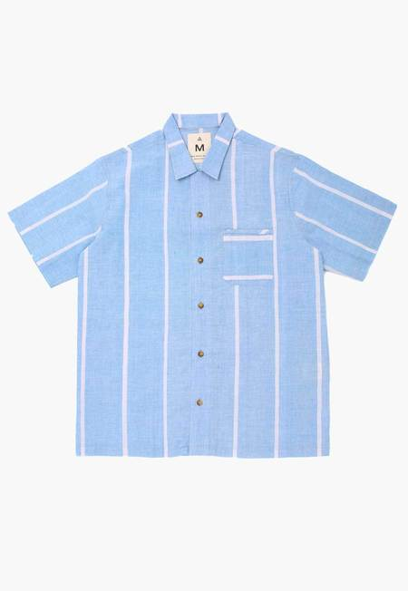 Deshal Lungi Box Button Down - Blue