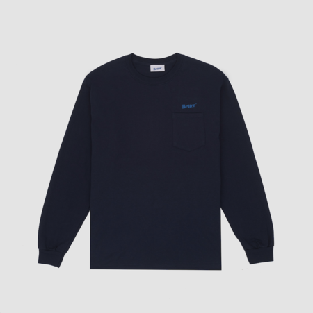 Better Classic Logo Pocket Long sleeve - Navy