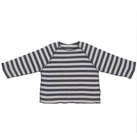 KIDS Album di Famiglia Kinya Sweater - Anthracite/Grey Stripes