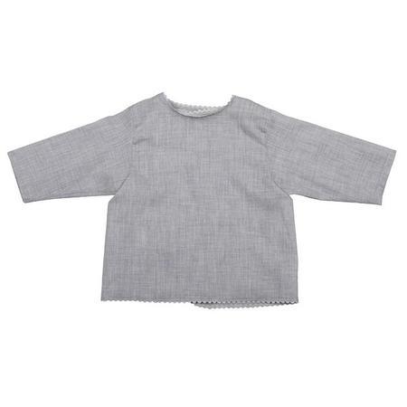 KIDS Makié Swiss Cotton Wrap Blouse - Grey