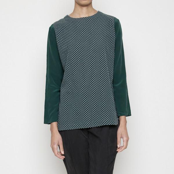 7115 by Szeki Cross-stitch long sleeves top - Green