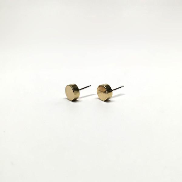 7115 by Szeki Cylinder Stud Earrings