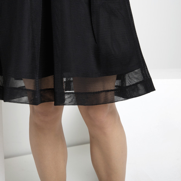 7115 by Szeki Fishnet A-Line Skirt FW15