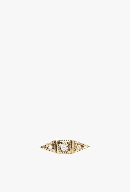 Jennie Kwon Designs Diamond Deco Point Long Stud Earring