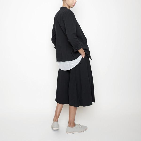 7115 by Szeki Linen Culottes R16- Black