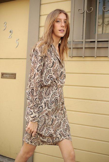 Nili Lotan Leora Dress - Black/Beige
