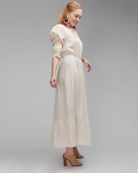 INGA-LENA The Amal Dress - Cream Linen