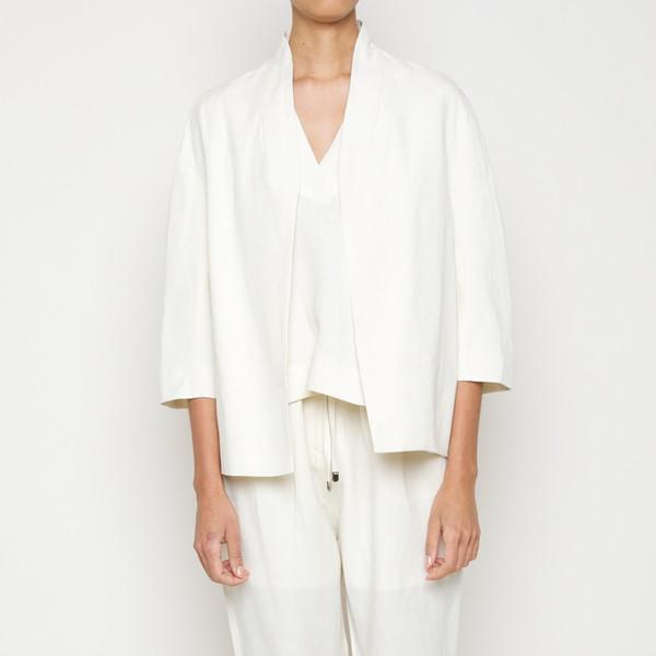 Structured Linen Jacket- Cream SS16