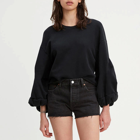 Levi's Made & Crafted Flounce Crew - Washed Black