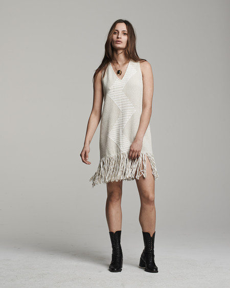 VOZ Zig Zag Dress - Sand