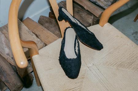 Mari Giudicelli Irene Kitten Heel - Black