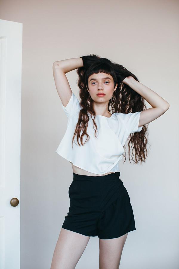 Samantha Pleet Curtain Shorts - Black