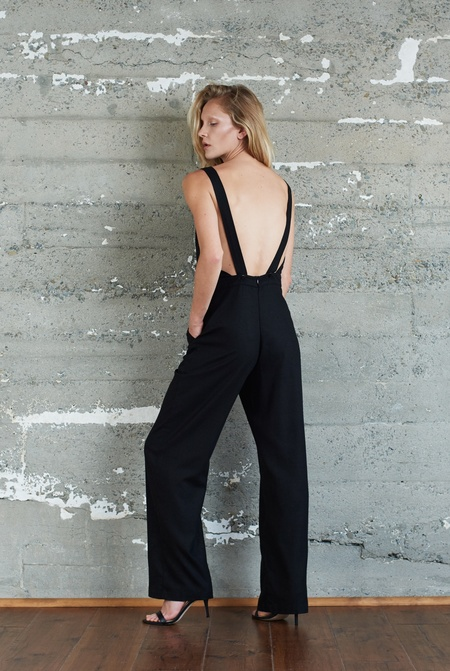 Kamperett Billie Raw Silk Overall Jumpsuit