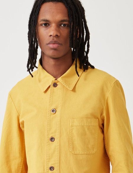 Vetra Dungaree Wash Twill French Workwear Jacket 5-Short - Pineapple Yellow