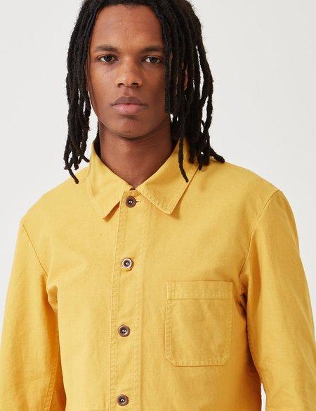 Vetra Dungaree Wash Twill French Workwear Jacket 5-Short - Pineapple Yellow