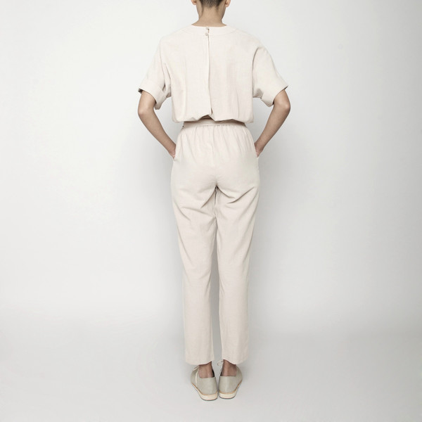 7115 by Szeki Mid-Sleeves Jumpsuit