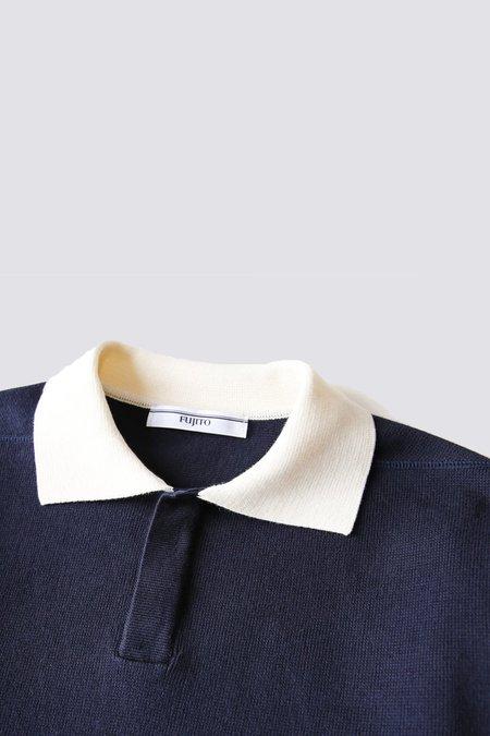 FUJITO Rugger Sweater - Navy