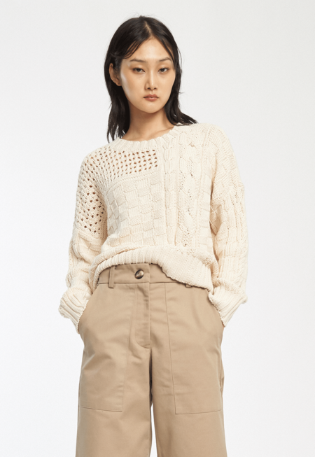 Kordal Gia Cable Knit Sweater - Cream