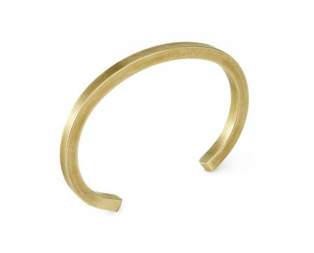Unisex Craighill Uniform Square Cuff - Brass