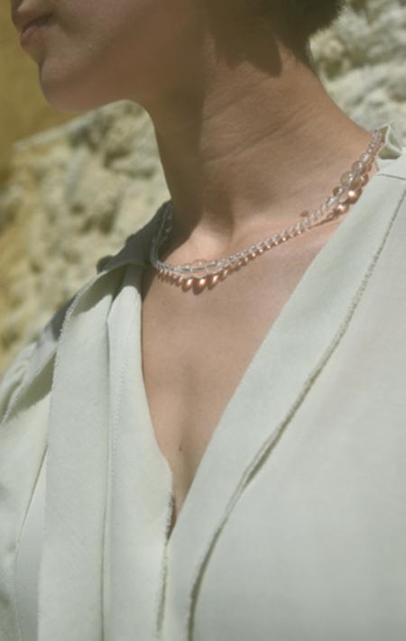 Saskia Diez Crystal Drop Necklace - sterling silver