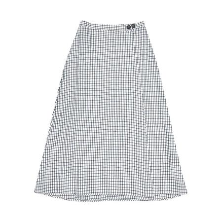 Ali Golden WRAP SKIRT - GRID