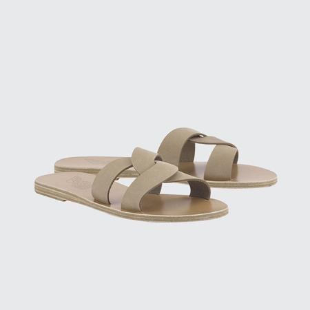 Ancient Greek Sandals Desmos Flat Sandal - Nubuck Canapa