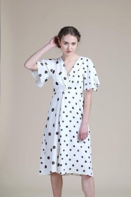 WHiT Twist Dress - White/Black