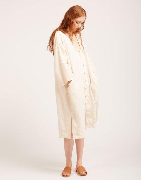 Atelier Delphine Gillian Coat - Kinari White