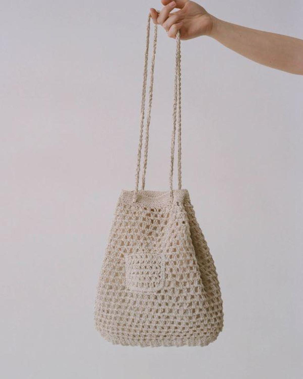 Paloma Wool Morgui Crochet Shoulder Bag Ecru Garmentory