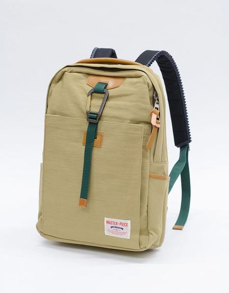 Master-Piece Link Backpack - Beige Nylon Twill